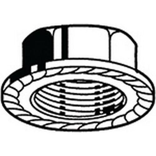 Šestihranná matice s ozubeným nákružkem DIN 6923 Ocel Pravý Bez