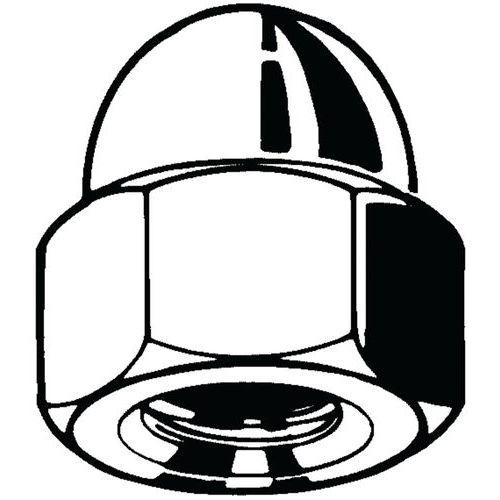 Šestihranná kloboučková matice vysoká DIN 1587 Nerezocel A4 50 soustružený