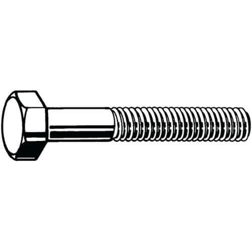 Šroub se šestihrannou hlavou ISO 4014 Ocel Pravý Zinko-hliníkový