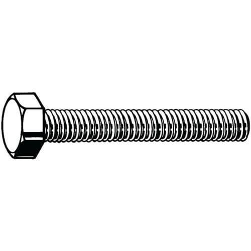 Šroub se šestihrannou hlavou a zvětšeným závitem ISO 4017 Ocel Ž