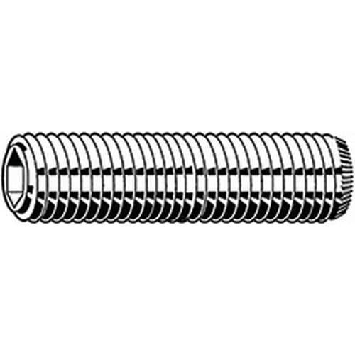 Stavěcí šroub s vnitřním šestihranem a rýhovaným důlkem MF DIN 9