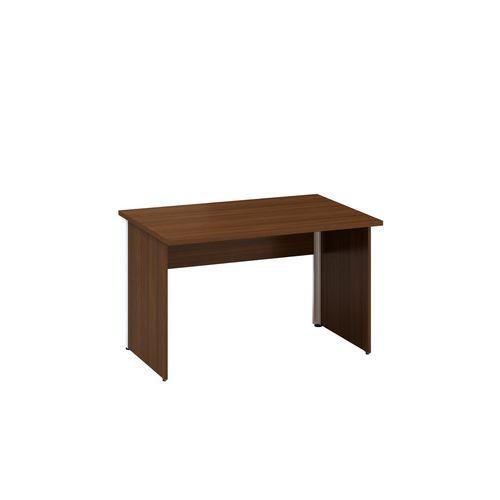 Kancelářský stůl Alfa 100, 120 x 80 x 73,5 cm, rovné provedení, dezén ořech