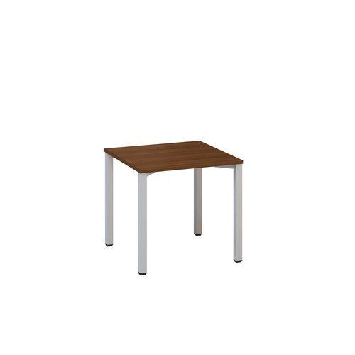 Kancelářský stůl Alfa 200, 80 x 80 x 74,2 cm, rovné provedení, dezén ořech, RAL9022