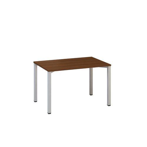 Kancelářský stůl Alfa 200, 120 x 80 x 74,2 cm, rovné provedení, dezén ořech, RAL9022