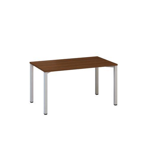Kancelářský stůl Alfa 200, 140 x 80 x 74,2 cm, rovné provedení, dezén ořech, RAL9022