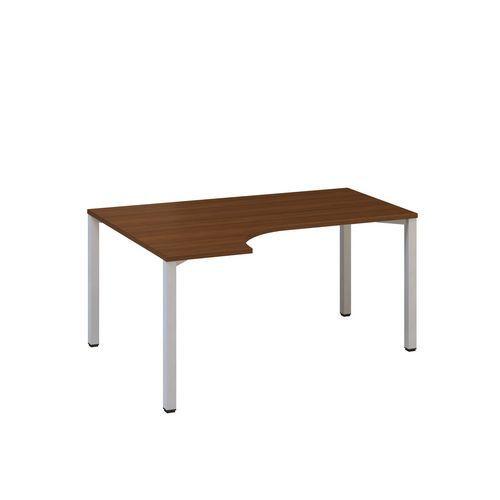 Ergo kancelářský stůl Alfa 200, 180 x 120 x 74,2 cm, levé provedení, dezén ořech, RAL9022