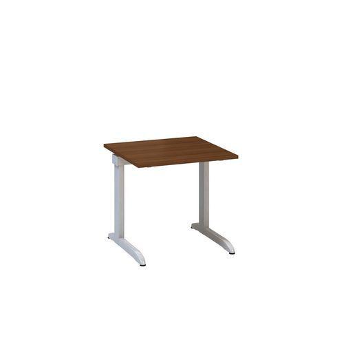 Kancelářský stůl Alfa 300, 80 x 80 x 74,2 cm, rovné provedení, dezén ořech