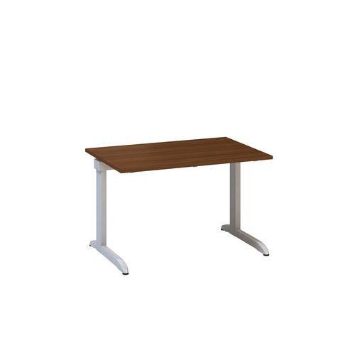 Kancelářský stůl Alfa 300, 120 x 80 x 74,2 cm, rovné provedení, dezén ořech