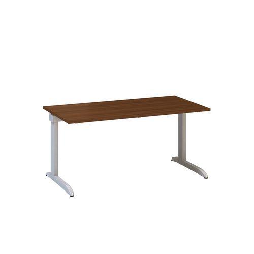 Kancelářský stůl Alfa 300, 160 x 80 x 74,2 cm, rovné provedení, dezén ořech