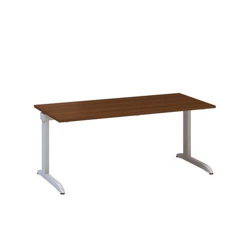 Kancelářský stůl Alfa 300, 180 x 80 x 74,2 cm, rovné provedení, dezén divoká hruška