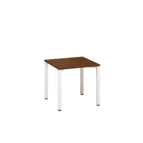 Kancelářský stůl Alfa 200, 80 x 80 x 74,2 cm, rovné provedení, dezén ořech, RAL9010