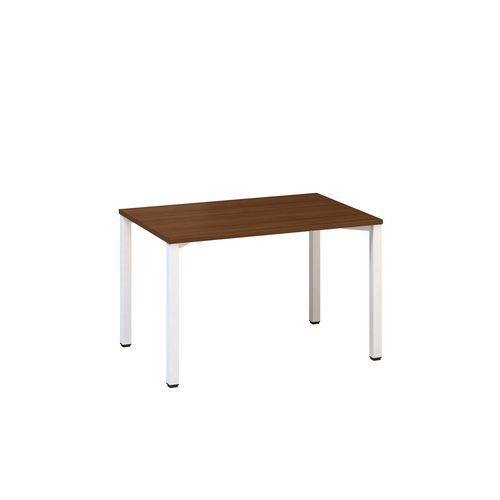 Kancelářský stůl Alfa 200, 120 x 80 x 74,2 cm, rovné provedení, dezén ořech, RAL9010