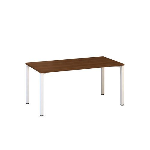 Kancelářský stůl Alfa 200, 160 x 80 x 74,2 cm, rovné provedení, dezén ořech, RAL9010