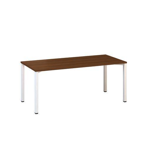 Kancelářský stůl Alfa 200, 180 x 80 x 74,2 cm, rovné provedení, dezén ořech, RAL9010
