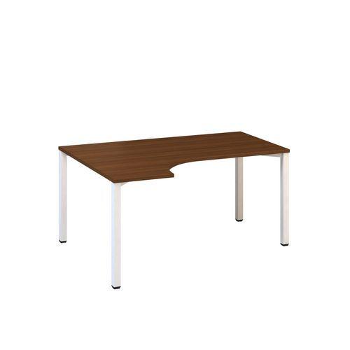 Ergo kancelářský stůl Alfa 200, 180 x 120 x 74,2 cm, levé provedení, dezén ořech, RAL9010