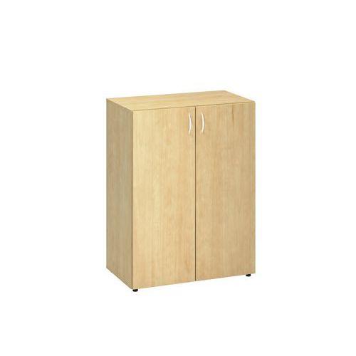 Střední široká skříň, 106,3 x 120 x 47 cm, s dvířky, dezén divoká hruška
