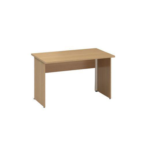 Alfa Office Kancelářský stůl Alfa 100, 120 x 70 x 73,5 cm, rovné provedení, dezén buk Bavaria - Prodloužená záruka na 10 let