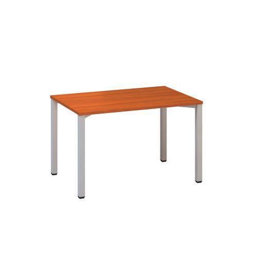 Konferenční stoly Alfa 420 s šedým podnožím, 120 x 80 x 74,2 cm, rovné provedení