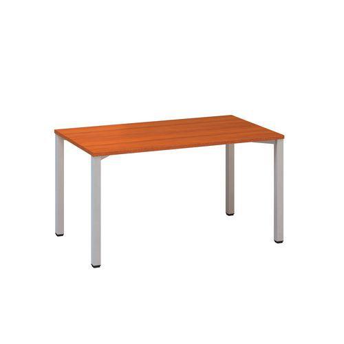 Konferenční stůl Alfa 420 s šedým podnožím, 140 x 80 x 74,2 cm, rovné provedení, dezén třešeň
