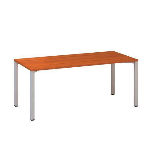 Konferenční stoly Alfa 420 s šedým podnožím, 180 x 80 x 74,2 cm, rovné provedení