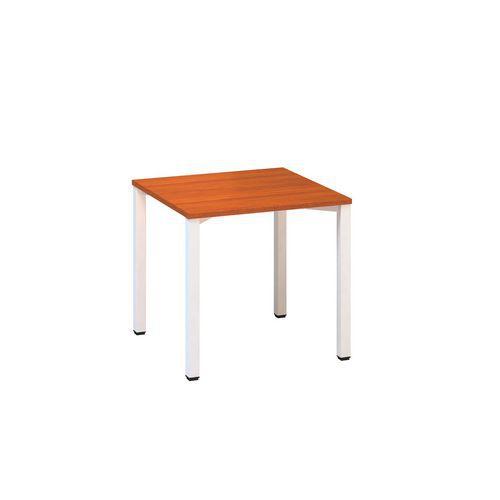 Konferenční stoly Alfa 420 s bílým podnožím, 80 x 80 x 74,2 cm, rovné provedení