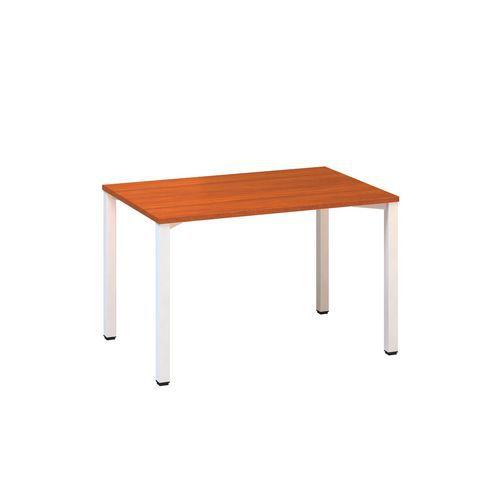 Konferenční stoly Alfa 420 s bílým podnožím, 120 x 80 x 74,2 cm, rovné provedení