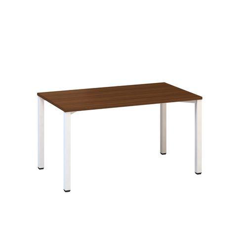Konferenční stůl Alfa 420 s bílým podnožím, 140 x 80 x 74,2 cm, rovné provedení, dezén oř