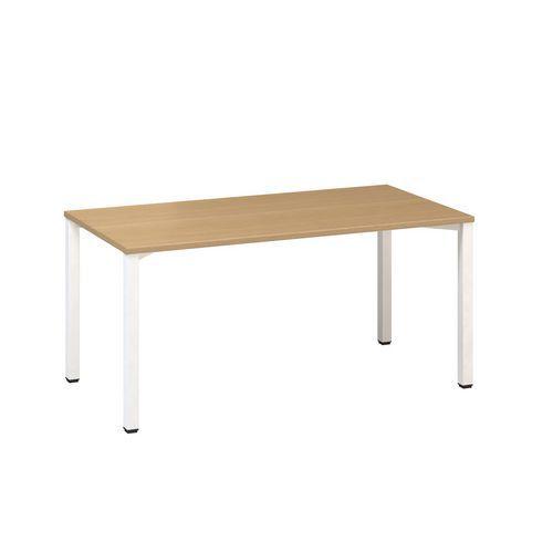 Konferenční stůl Alfa 420 s bílým podnožím, 160 x 80 x 74,2 cm,