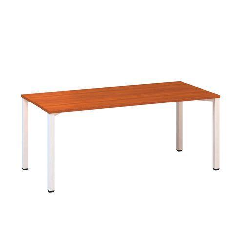 Konferenční stůl Alfa 420 s bílým podnožím, 180 x 80 x 74,2 cm,