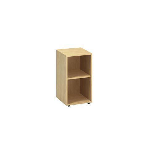 Nízká úzká skříň Alfa 500, 73,5 x 40 x 45 cm, otevřená, dezén di