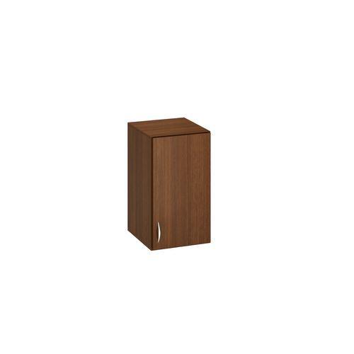 Přístavbová nízká úzká skříň Alfa 500, 71,7 x 40 x 47 cm, s dvířky - pravé provedení, dezén ořech