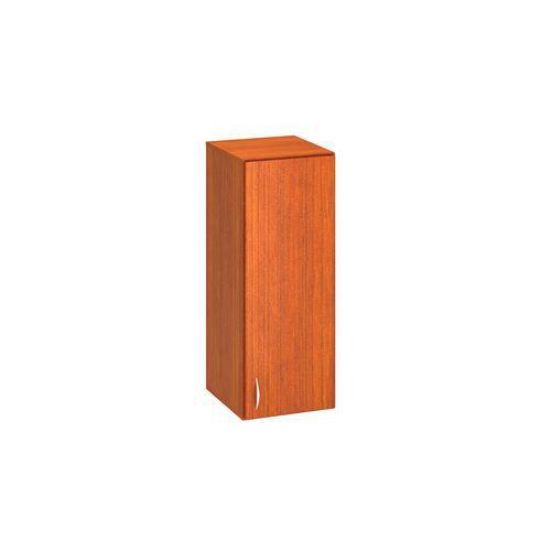 Přístavbová střední úzká skříň Alfa 500, 104,5 x 40 x 47 cm, s dvířky - pravé provedení, dezén třešeň