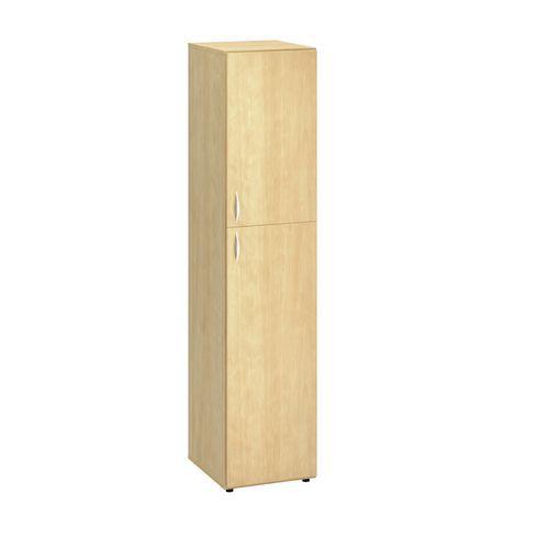 Vysoká úzká skříň Alfa 500, 178 x 40 x 47 cm, s dvířky - pravé provedení, dezén divoká hruška