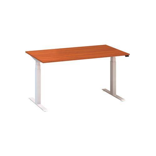 Výškově nastavitelný kancelářský stůl Alfa Up s bílým podnožím,