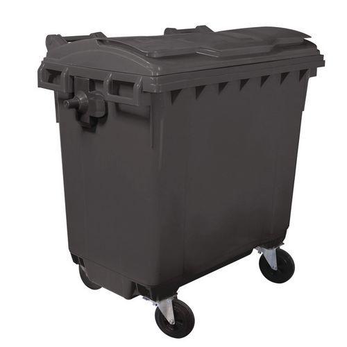 Plastová popelnice Manutan, objem 770 l, šedá