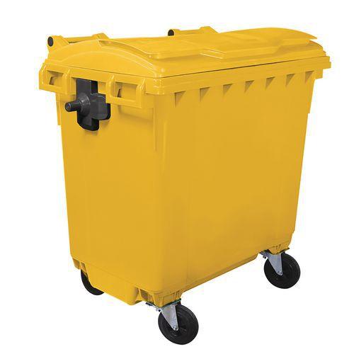 Plastová popelnice Manutan, objem 770 l, žlutá