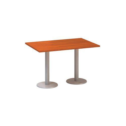 Konferenční stoly Alfa 400 s šedým podnožím, 120 x 80 x 74,2 cm