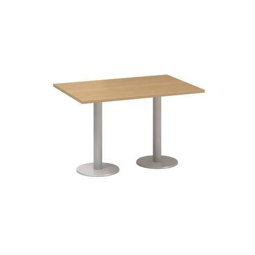 Alfa Office Konferenční stůl Alfa 400 s šedým podnožím, 120 x 80 x 74,2 cm, dezén buk - Prodloužená