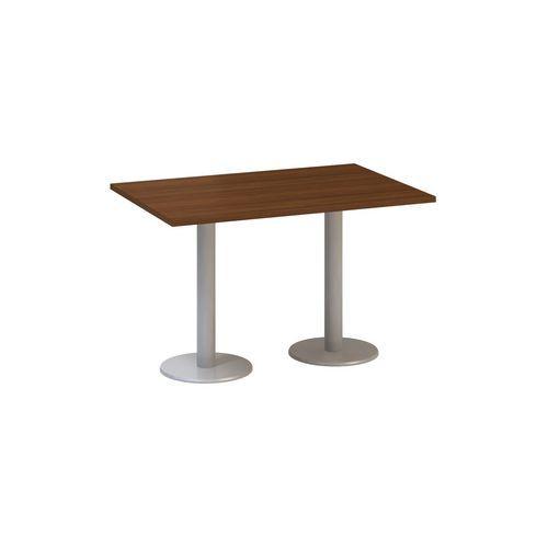 Konferenční stůl Alfa 400 s šedým podnožím, 120 x 80 x 74,2 cm, dezén ořech