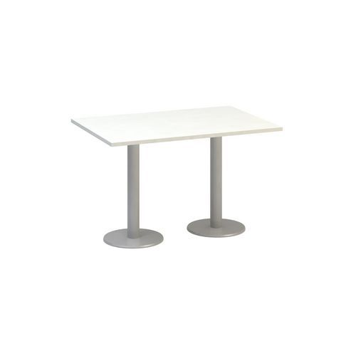 Alfa Office Konferenční stůl Alfa 400 s šedým podnožím, 120 x 80 x 74,2 cm, dezén bílá - Prodloužená