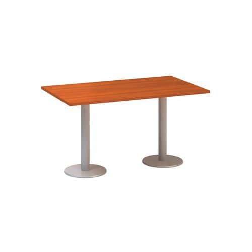 Alfa Office Konferenční stůl Alfa 400 s šedým podnožím, 140 x 80 x 74,2 cm, dezén třešeň - Prodlouže