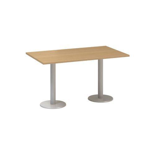 Alfa Office Konferenční stůl Alfa 400 s šedým podnožím, 140 x 80 x 74,2 cm, dezén buk - Prodloužená