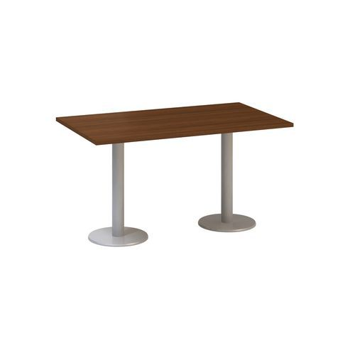 Konferenční stůl Alfa 400 s šedým podnožím, 140 x 80 x 74,2 cm,
