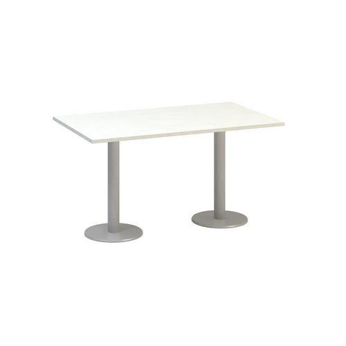 Alfa Office Konferenční stůl Alfa 400 s šedým podnožím, 140 x 80 x 74,2 cm, dezén bílá - Prodloužená