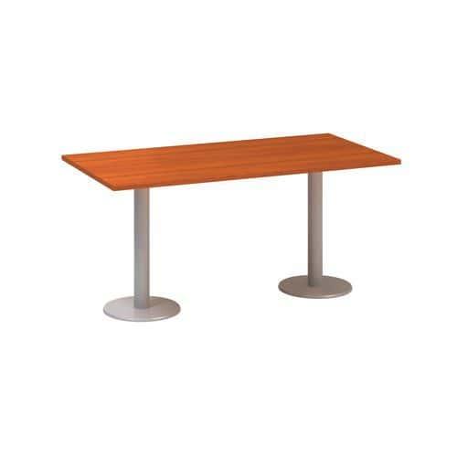 Alfa Office Konferenční stůl Alfa 400 s šedým podnožím, 160 x 80 x 74,2 cm, dezén třešeň - Prodlouže