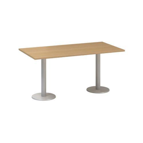 Alfa Office Konferenční stůl Alfa 400 s šedým podnožím, 160 x 80 x 74,2 cm, dezén buk - Prodloužená