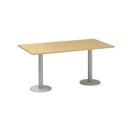 Alfa Office Konferenční stůl Alfa 400 s šedým podnožím, 160 x 80 x 74,2 cm, dezén divoká hruška - Pr