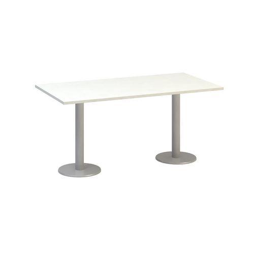 Alfa Office Konferenční stůl Alfa 400 s šedým podnožím, 160 x 80 x 74,2 cm, dezén bílá - Prodloužená