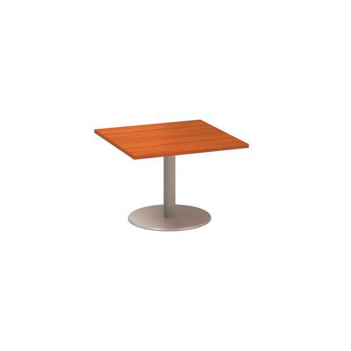 Alfa Office Konferenční stůl Alfa 400 s šedým podnožím, 80 x 80 x 50,7 cm, dezén třešeň - Prodloužen