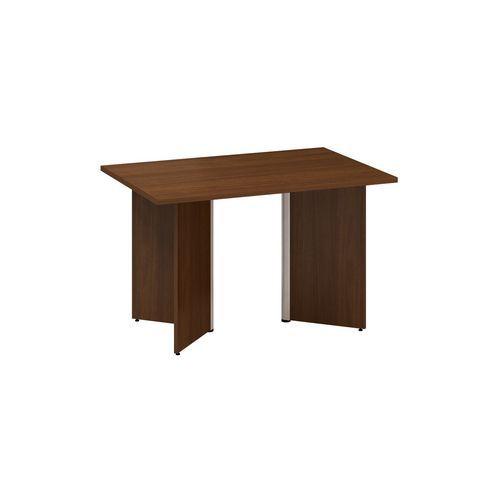 Konferenční stůl Alfa 490 s šedým podnožím, 120 x 80 x 73,5 cm, dezén ořech